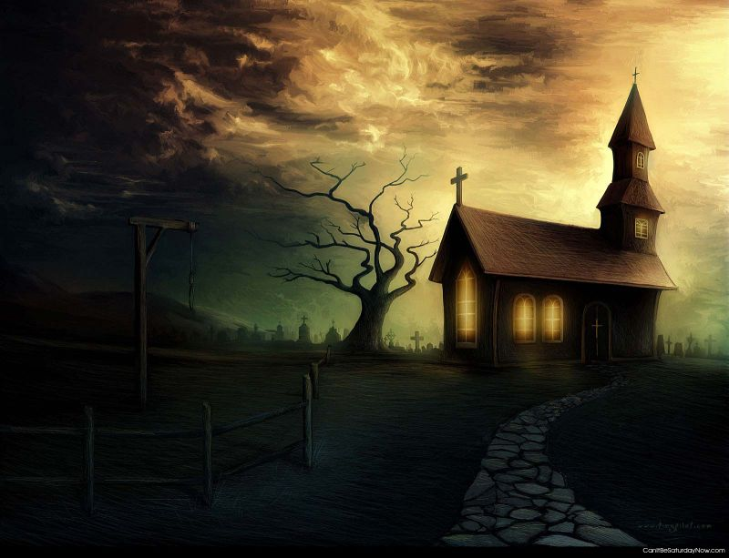 Creepy church
