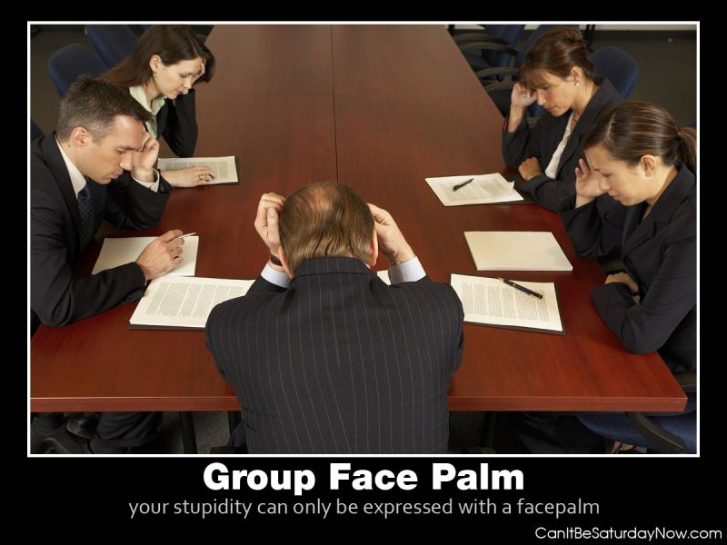 Group face palm
