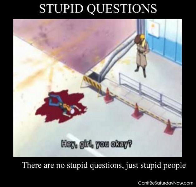 Stupid questions