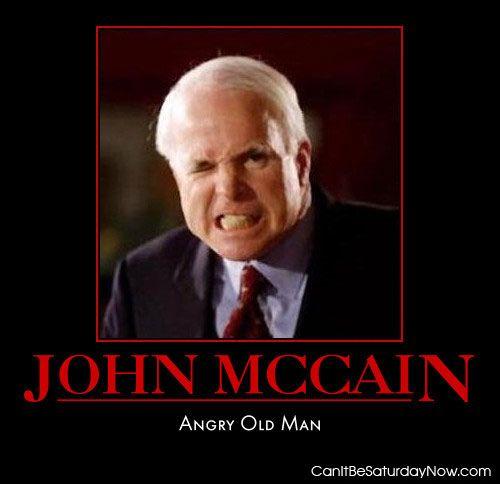 Angry mccain