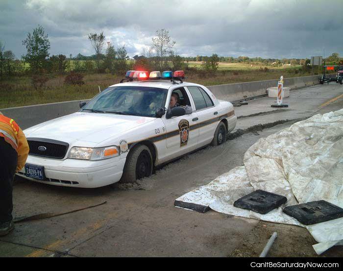Wet concrete cop