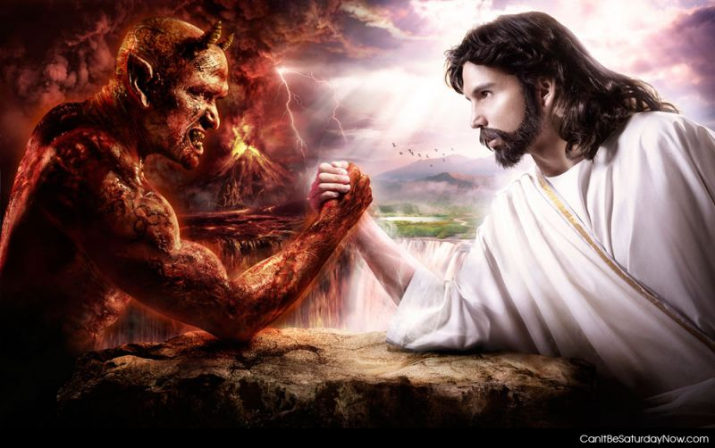 Devil vs god