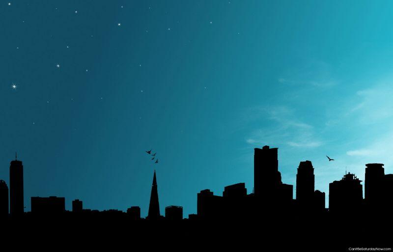 Blue night line