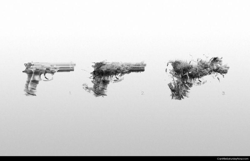 Gun disappear