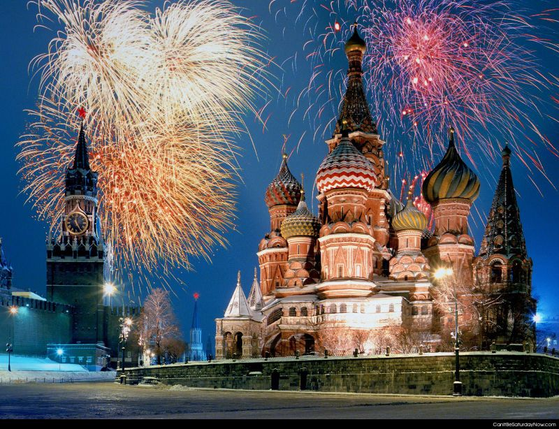 Russia Fireworks