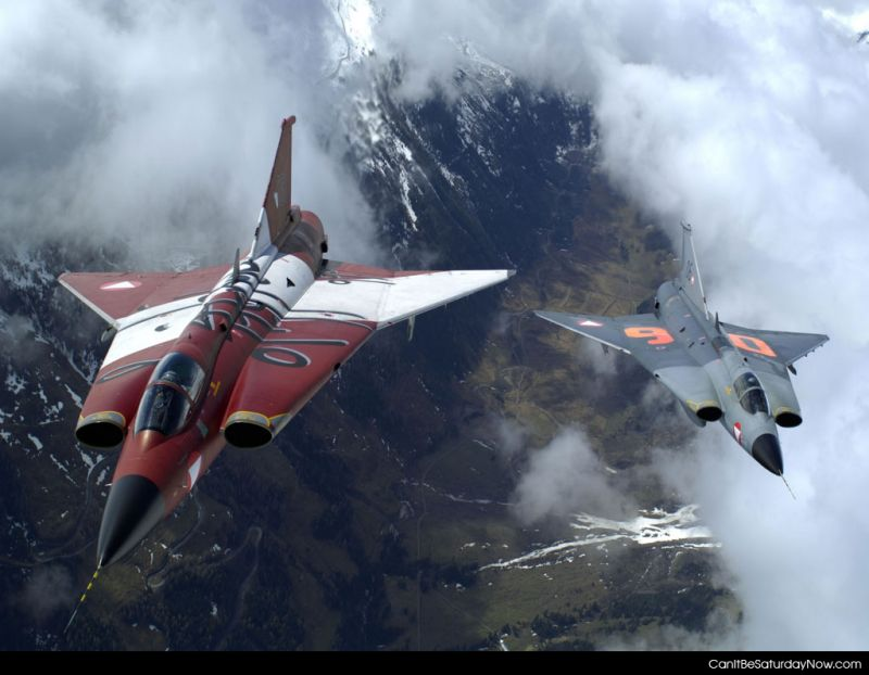 Jets over mountains