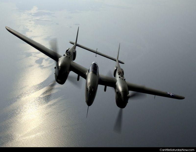 Twin prop plane