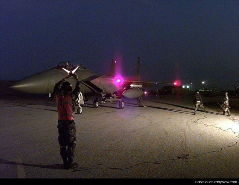 Jet take off