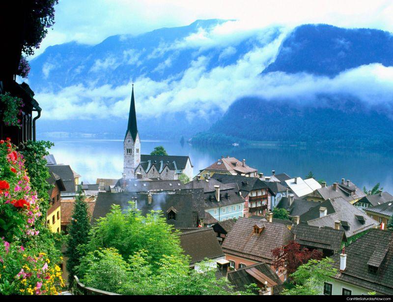 Mountain side town