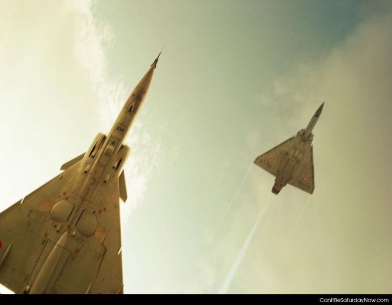 Jets above