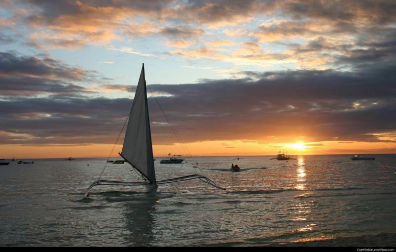 Sail sun set