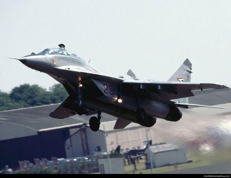 Jet takeoff fast