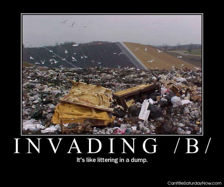 Littering in a dump