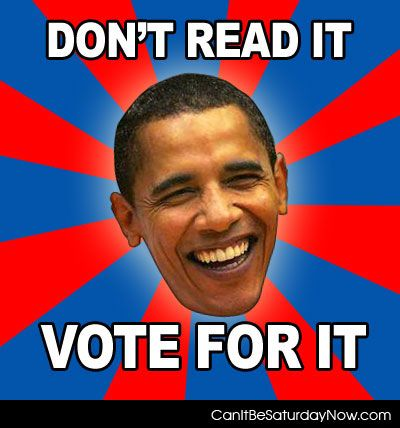 Dont read just vote