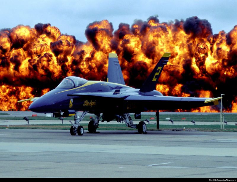 Blue angles fire