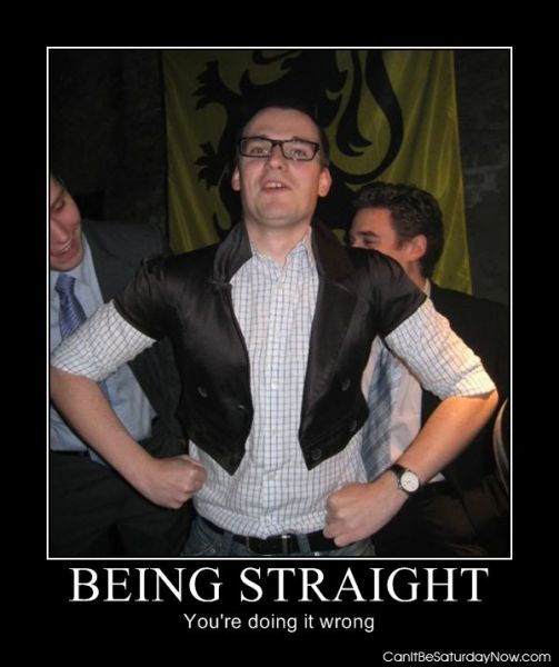 Being straight