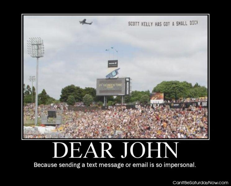 Dear john plane