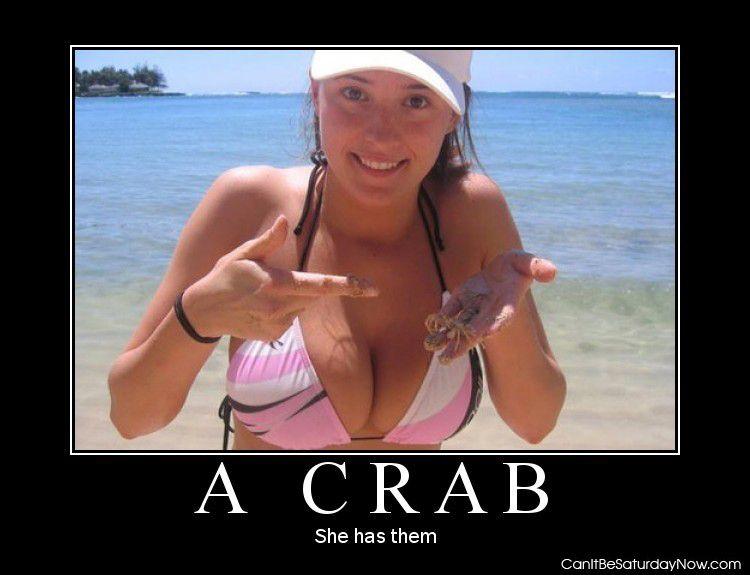 Has a crab