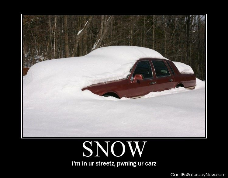 Snow pwn car