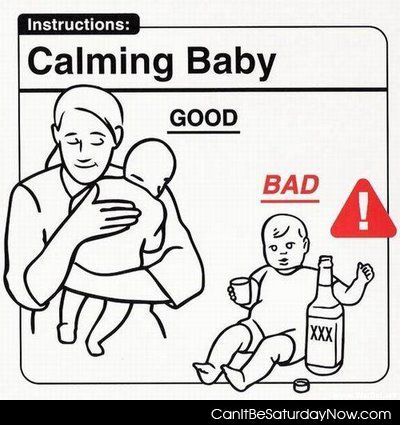 Calm the baby