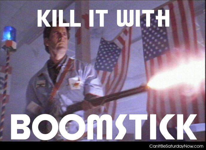 Kill with boomstick
