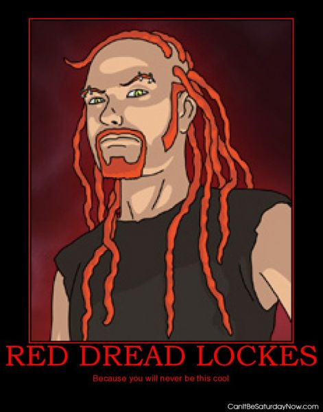 Red dread lockes