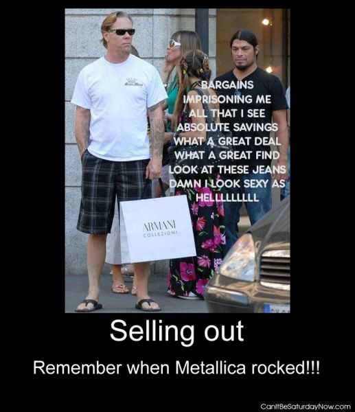 Metallica sell out
