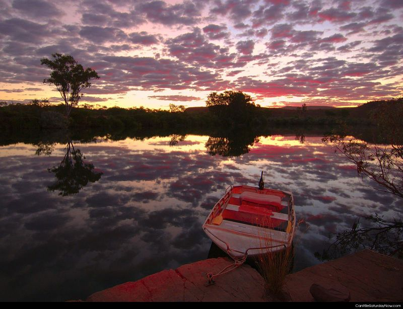 Mirror lake dawn
