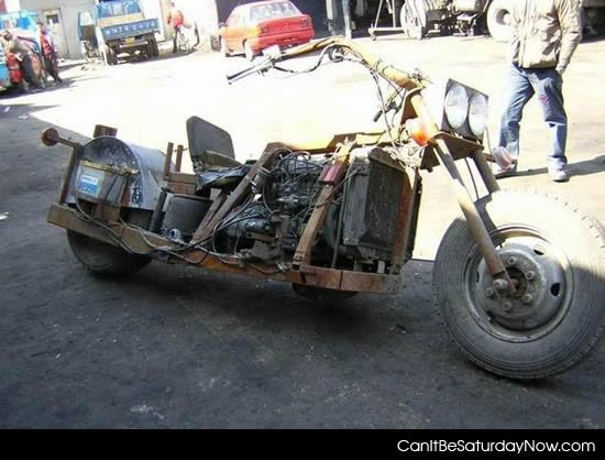Rusty rat bike