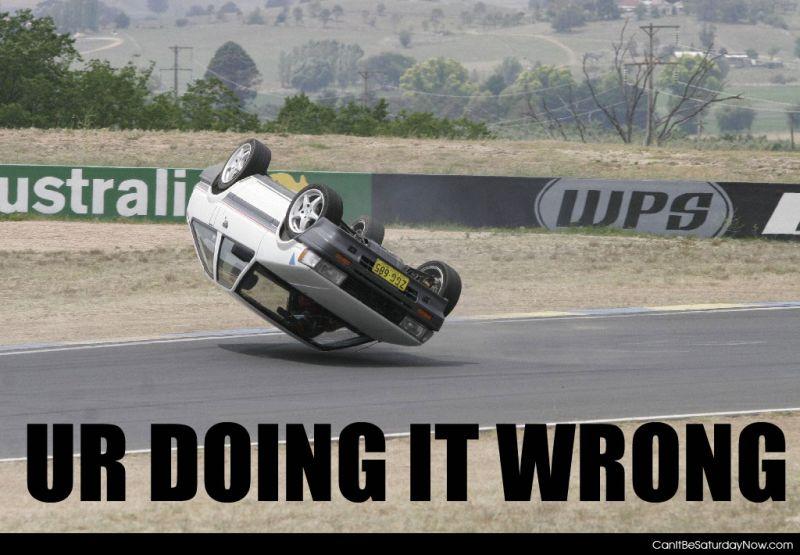 Wrong racer