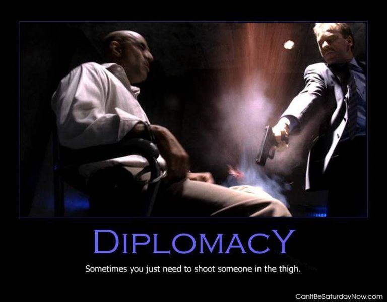Gun diplomacy