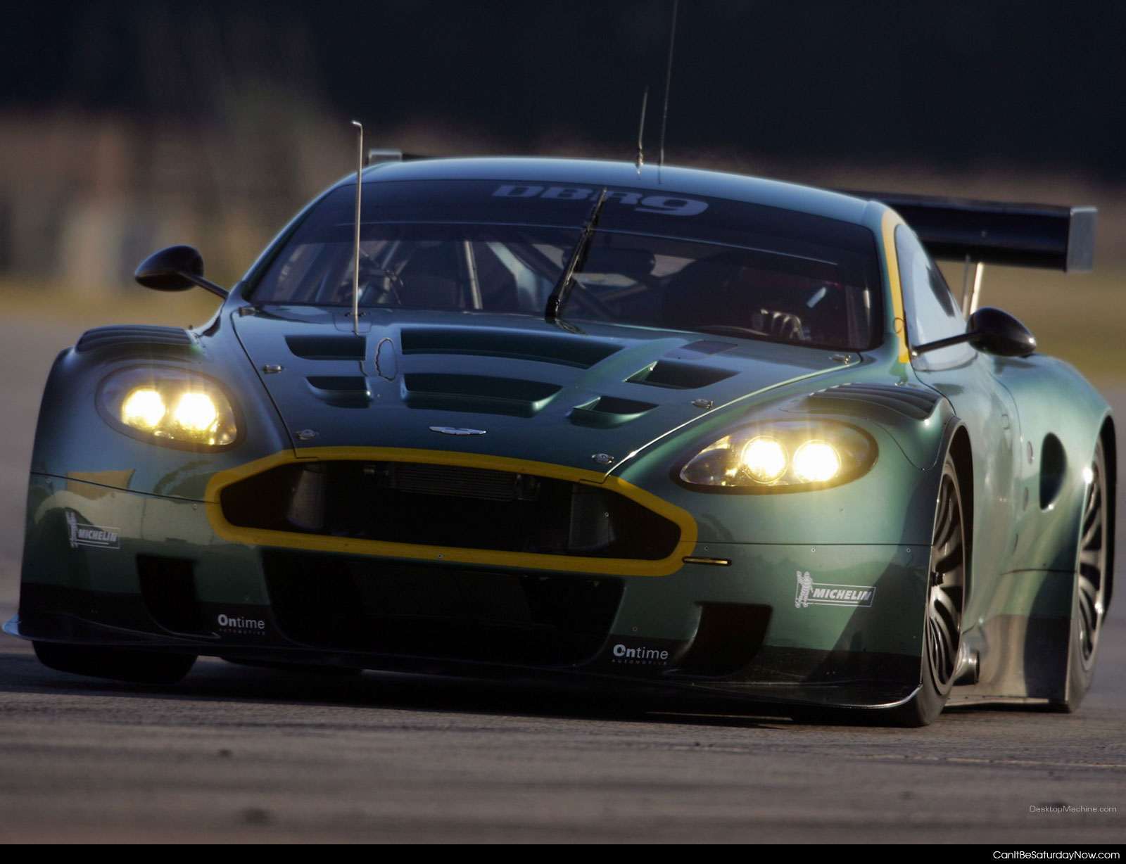 Green Race Car 2
