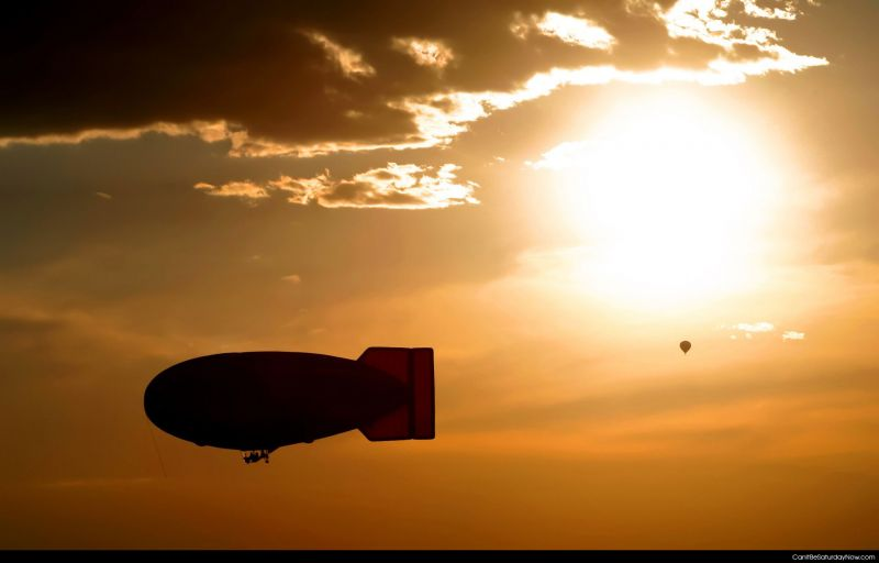 Sunset blimp