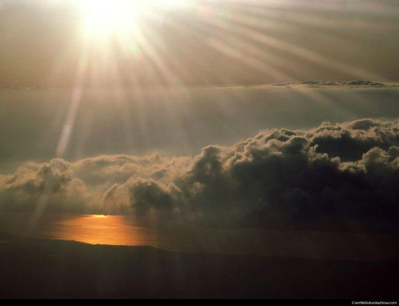 Above clouds sun