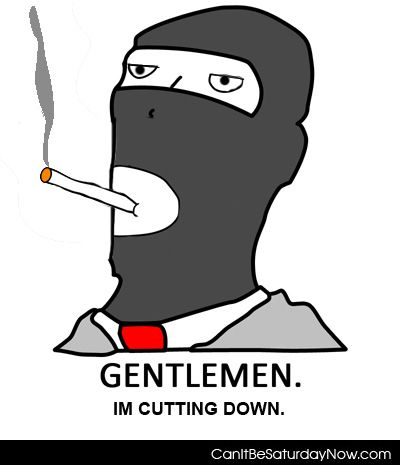 Gentlemen cutting down