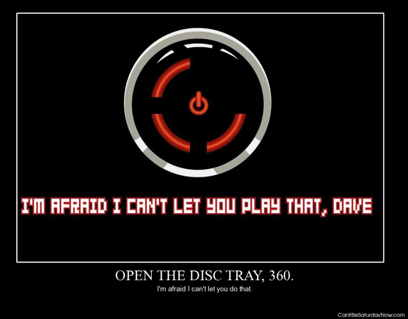Open the disc tray