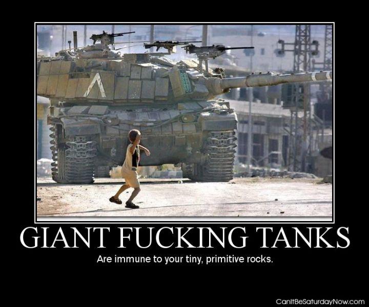 Rock vs tank