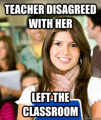 Teacher disagreed with her