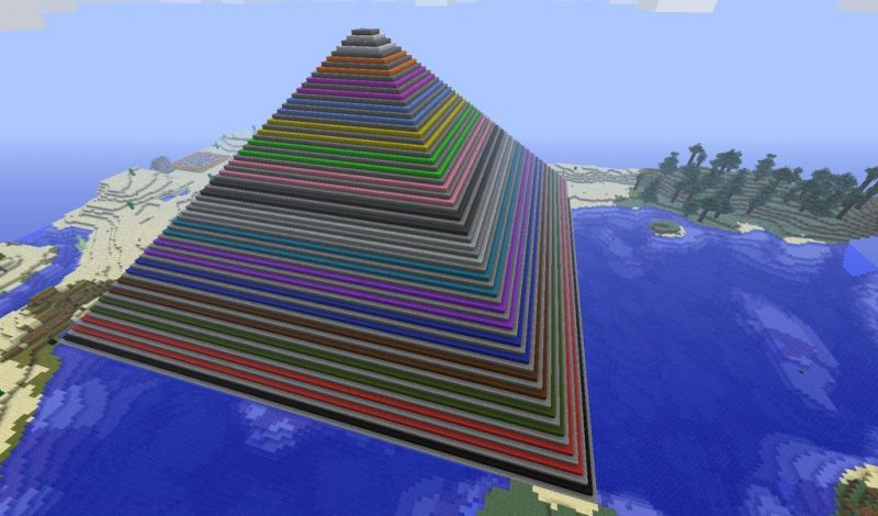 Minecraft pryamid