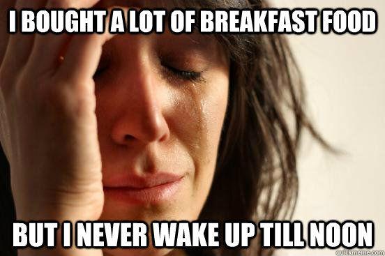 Bought lots of breakfast food