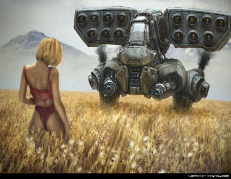 Girl and mech