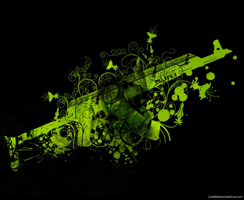 Green rifle