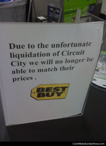 Best Buy Is upset