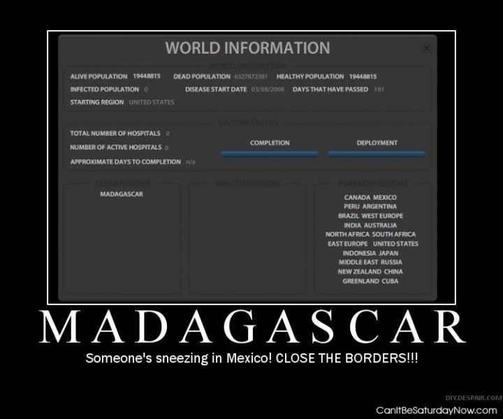 Madagascar is clean