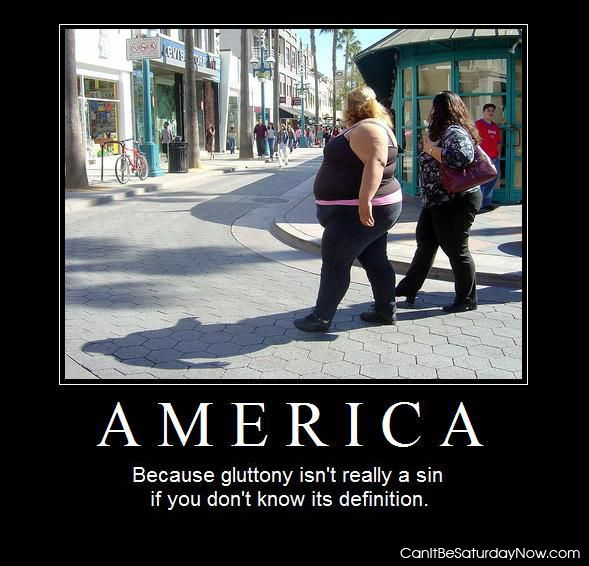 America gluttony