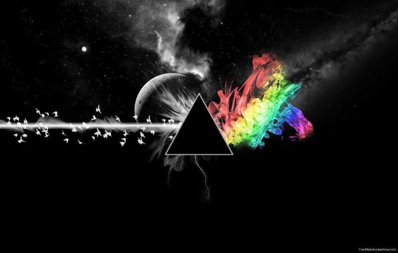 Gas birds make rainbow